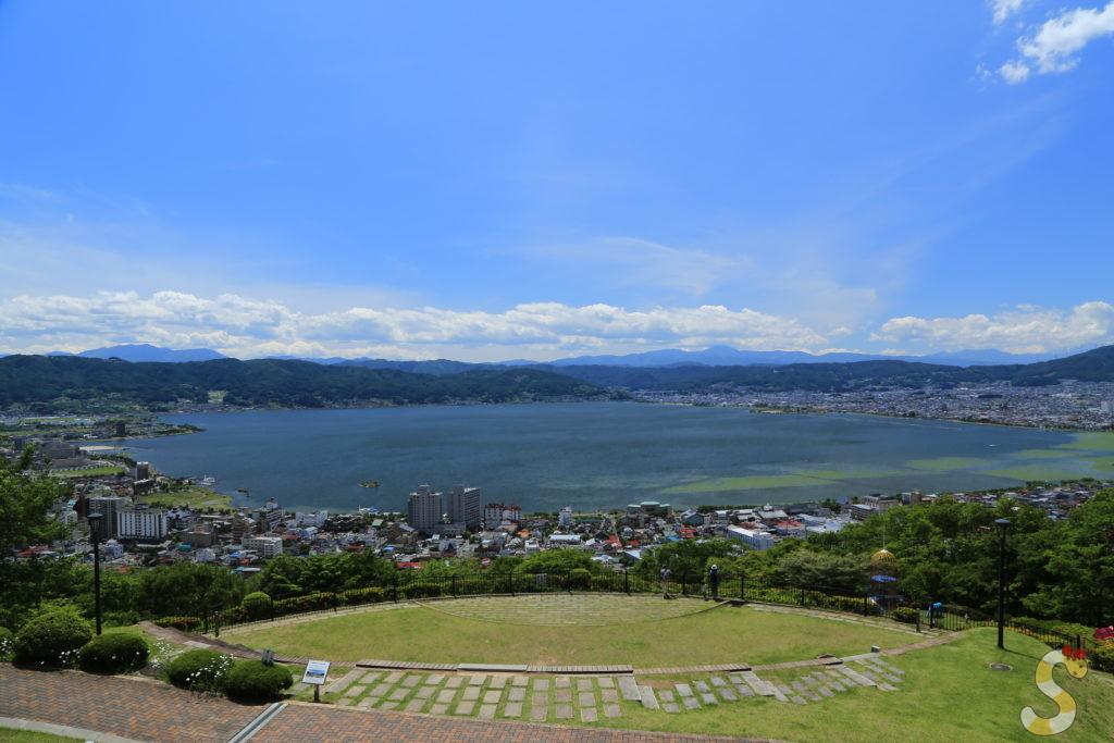 諏訪湖の立石公園