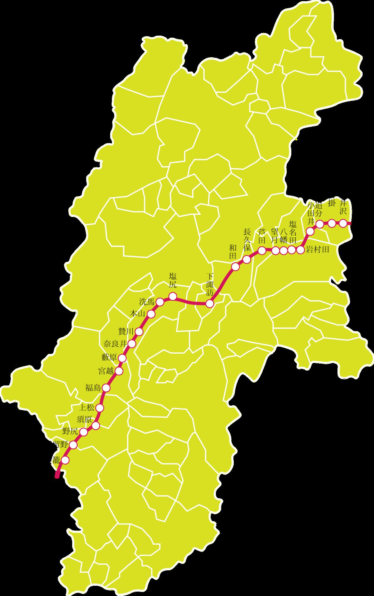 長野県の中山道