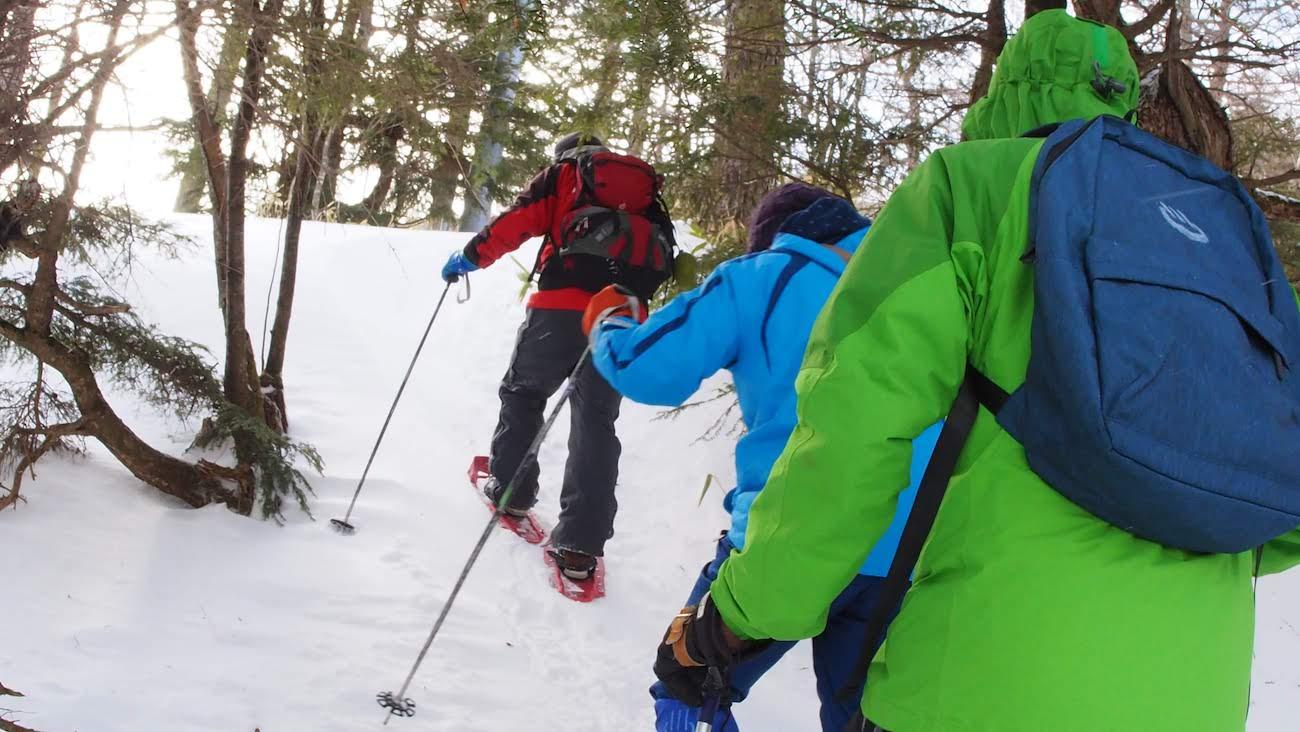 高峰温泉 スノーシュー体験
