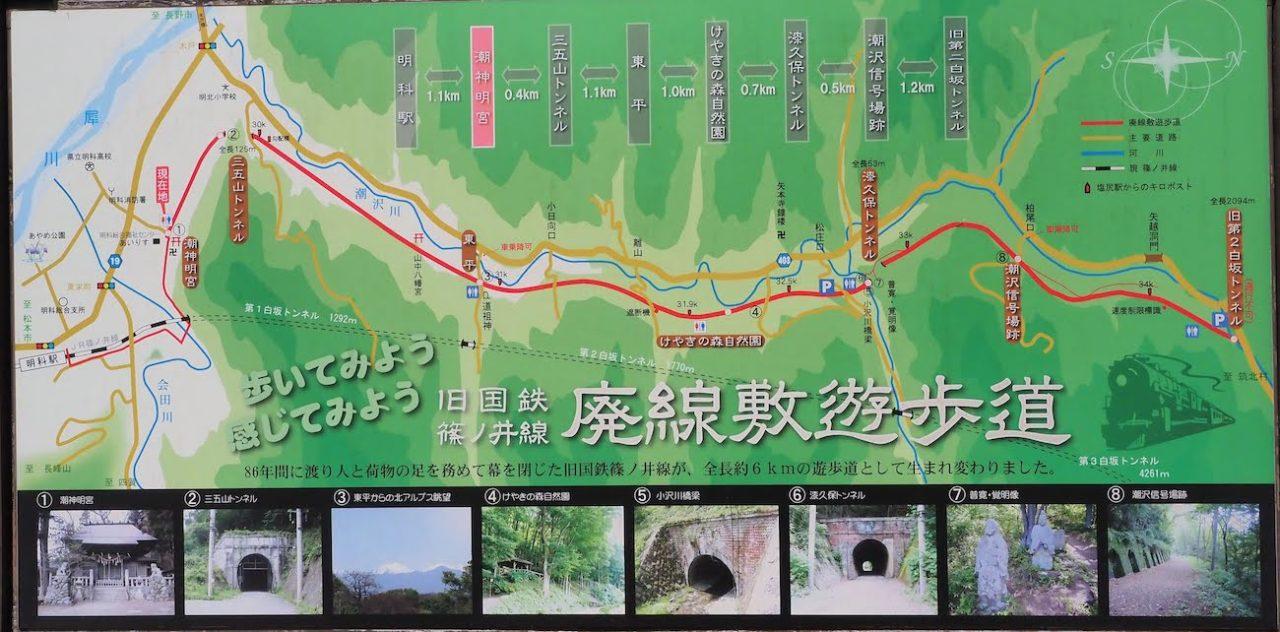旧国鉄篠ノ井線 廃線敷コース