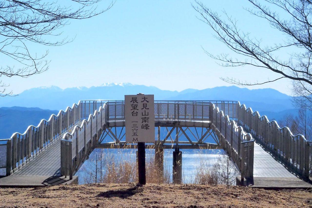 諏訪市蓼の海公園大見山展望台