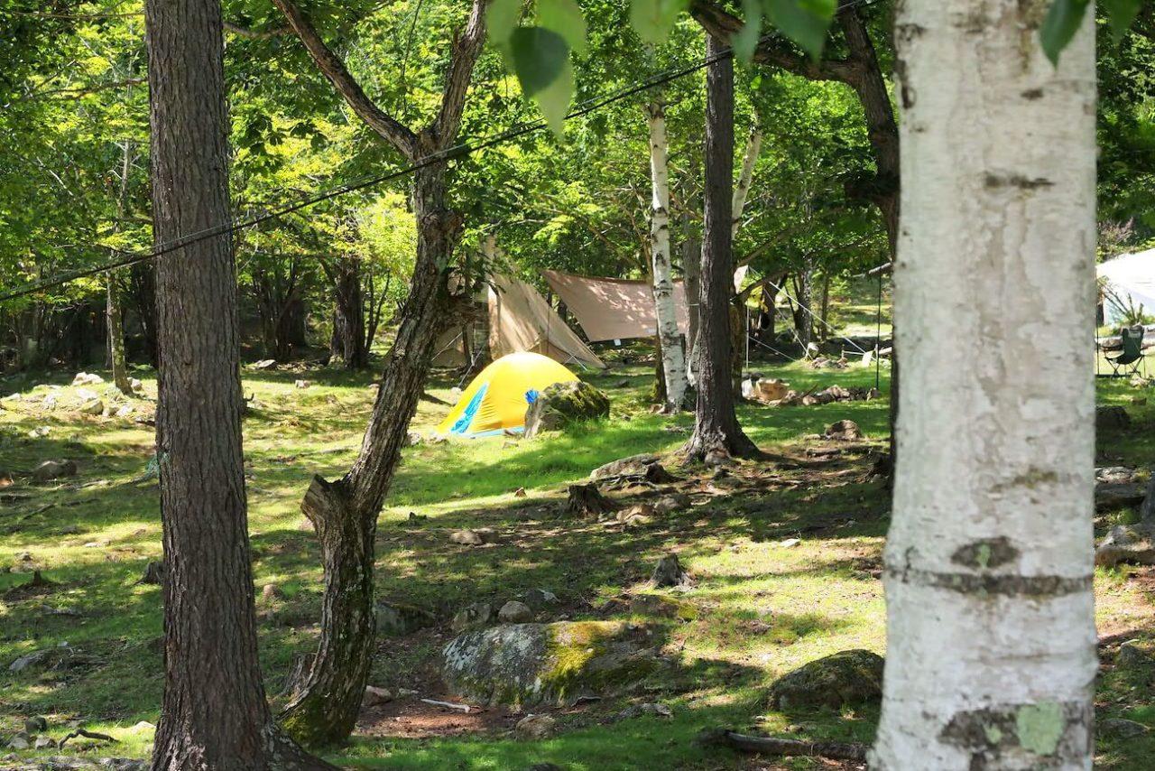 長野県川上村廻目平キャンプ場と金峰渓谷