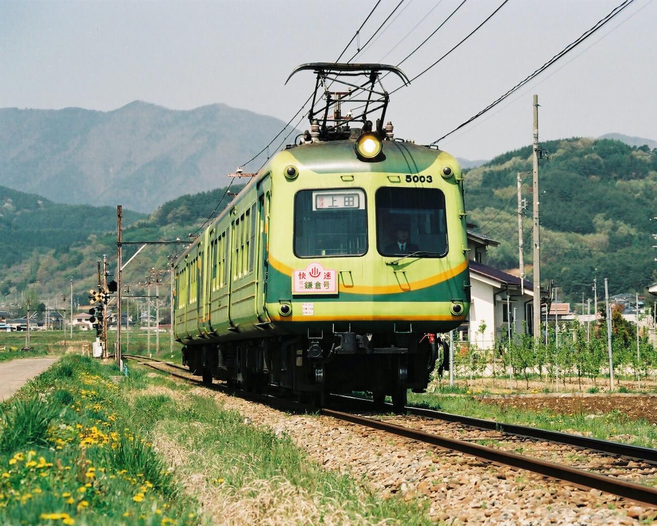 上田市別所温泉ローカル線